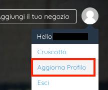 aggiorna profilo